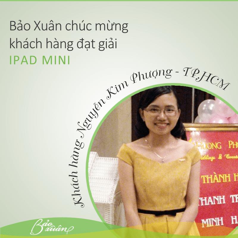 Ảnh: Chị Nguyễn Kim Phượng đã may mắn trúng Ipad Mini
