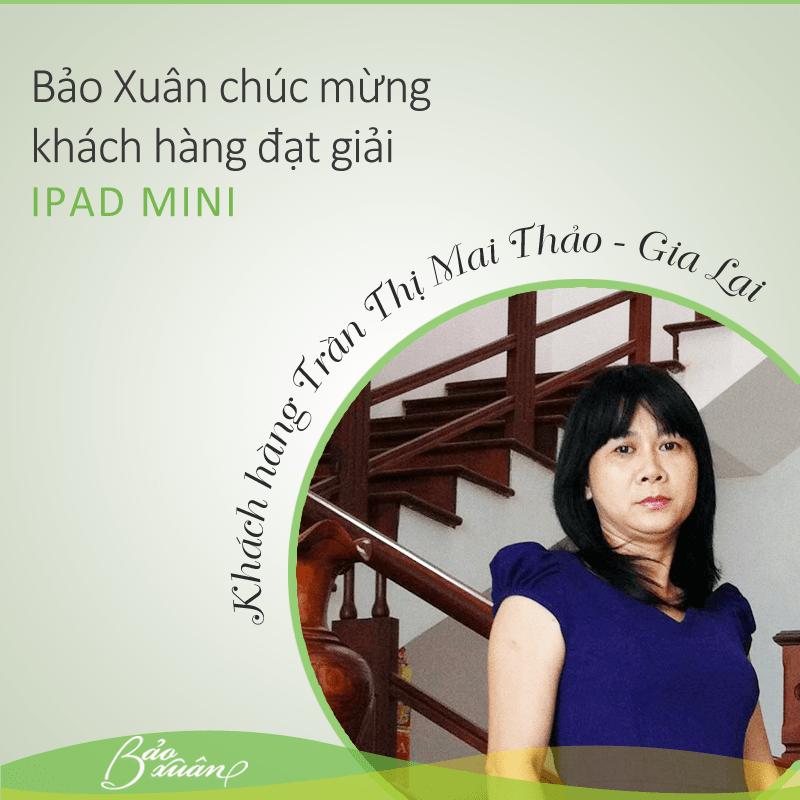 Ảnh: Chị Trần Thị Mai Thảo đã trở thành chủ nhân thứ 5 của giải Bạc (01 Ipad Mini)